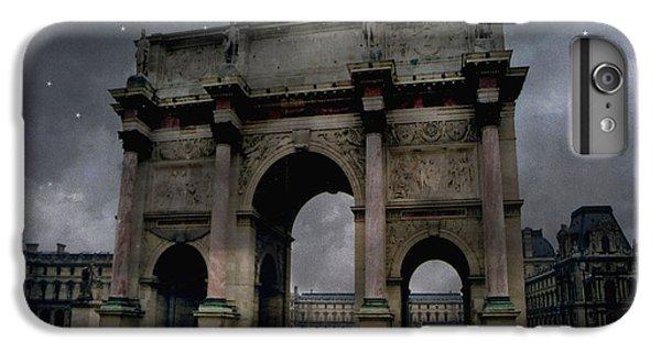 Paris Arc Du Carousel - Louvre Museum Arc De Triomphe - Starry Night Blue Paris Louvre Courtyard IPhone 7 Plus Case by Kathy Fornal