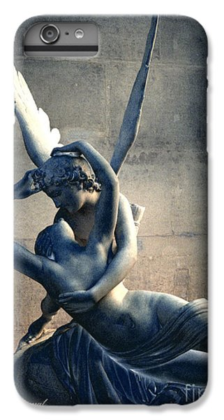 Paris Eros And Psyche Romantic Lovers - Paris In Love Eros And Psyche Louvre Sculpture  IPhone 7 Plus Case by Kathy Fornal