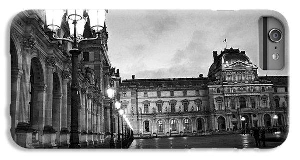Paris Louvre Museum Lanterns Lamps - Paris Black And White Louvre Museum Architecture IPhone 7 Plus Case