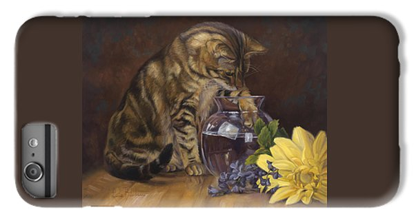 Daisy iPhone 7 Plus Case - Paw In The Vase by Lucie Bilodeau
