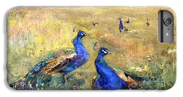 Peacocks In A Field IPhone 7 Plus Case by Mildred Anne Butler