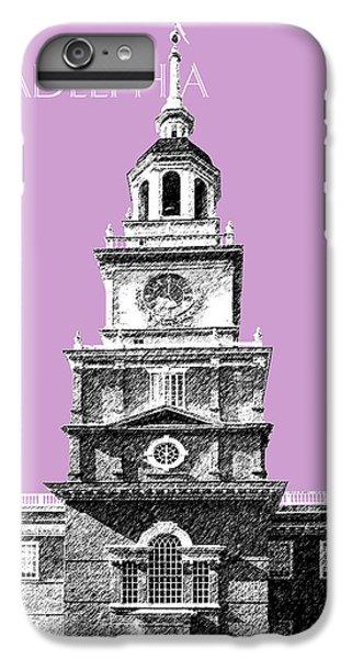 Philadelphia Skyline Independence Hall - Light Plum IPhone 7 Plus Case by DB Artist