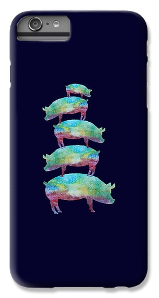 Pig Stack IPhone 7 Plus Case by Jenny Armitage