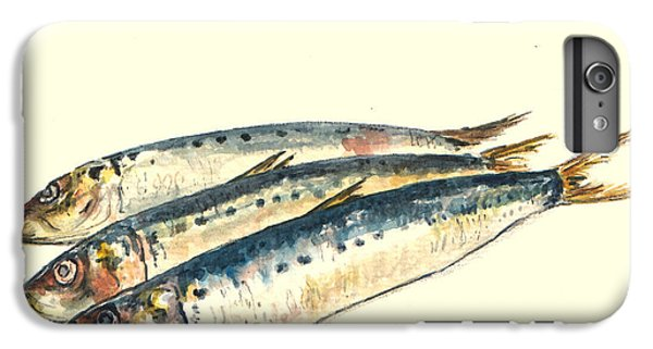 Fish iPhone 7 Plus Case - Pilchards by Juan  Bosco