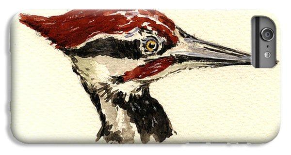 Woodpecker iPhone 7 Plus Case - Pileated Woodpecker Head Study by Juan  Bosco