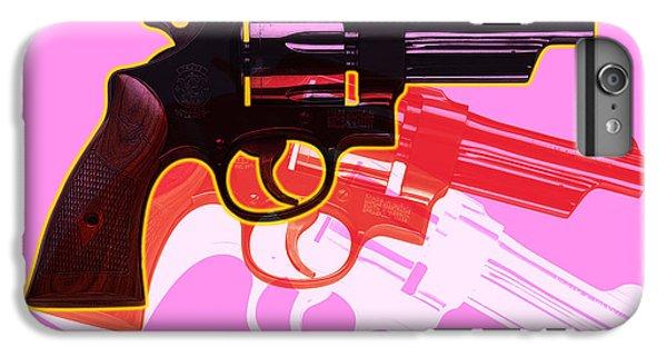 Red iPhone 7 Plus Case - Pop Handgun by Gary Grayson
