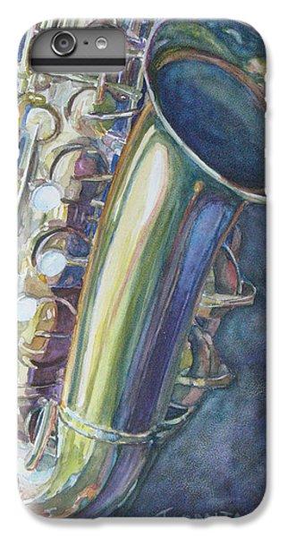 Saxophone iPhone 7 Plus Case - Portrait Of A Sax by Jenny Armitage