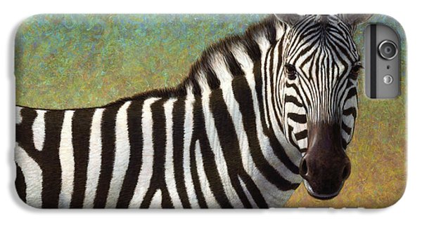 Portrait Of A Zebra IPhone 7 Plus Case by James W Johnson