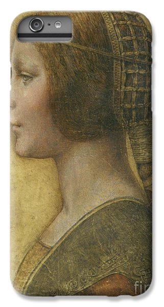 Portraits iPhone 7 Plus Case - Profile Of A Young Fiancee by Leonardo Da Vinci