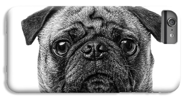 Pug iPhone 7 Plus Case - Pug Dog Black And White by Edward Fielding