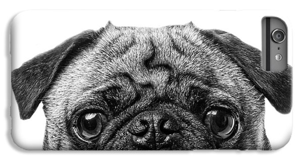 Pug iPhone 7 Plus Case - Pug Dog Square Format by Edward Fielding