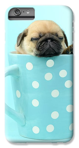 Pug iPhone 7 Plus Case - Pug In A Cup by MGL Meiklejohn Graphics Licensing