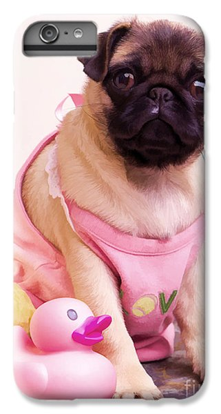 Pug iPhone 7 Plus Case - Pug Puppy Bath Time by Edward Fielding