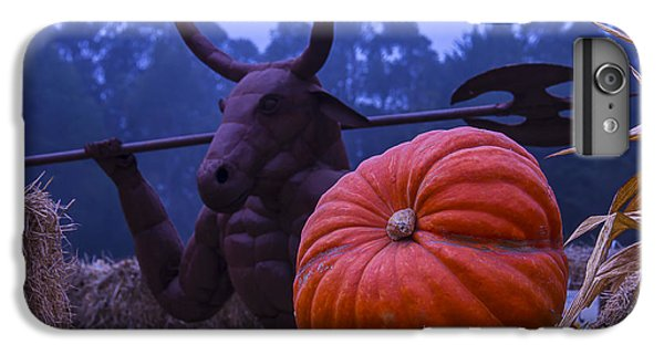 Minotaur iPhone 7 Plus Case - Pumpkin And Minotaur by Garry Gay