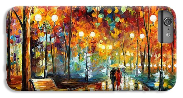 Afremov iPhone 7 Plus Case - Rain's Rustle 2 - Palette Knife Oil Painting On Canvas By Leonid Afremov by Leonid Afremov