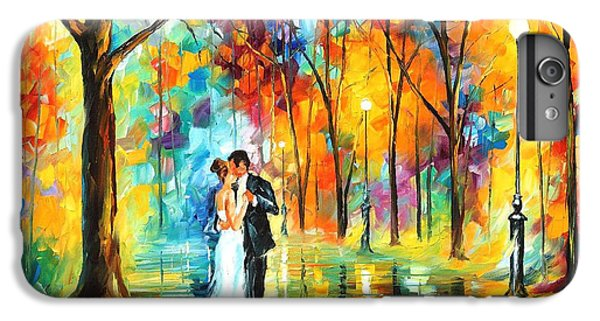 Afremov iPhone 7 Plus Case - Rainy Wedding - Palette Knife Oil Painting On Canvas By Leonid Afremov by Leonid Afremov
