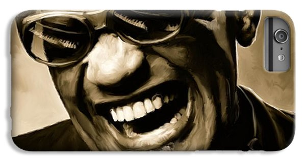 Ray Charles - Portrait IPhone 7 Plus Case by Paul Tagliamonte