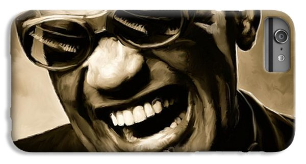 Rhythm And Blues iPhone 7 Plus Case - Ray Charles - Portrait by Paul Tagliamonte