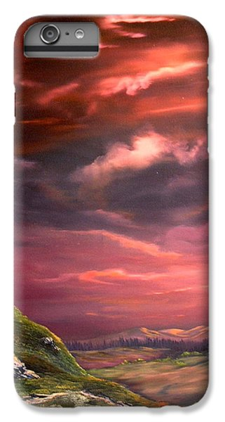 Red Sky At Night IPhone 7 Plus Case by Jean Walker
