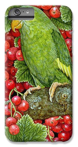 Redcurrant Parakeet IPhone 7 Plus Case by Ditz