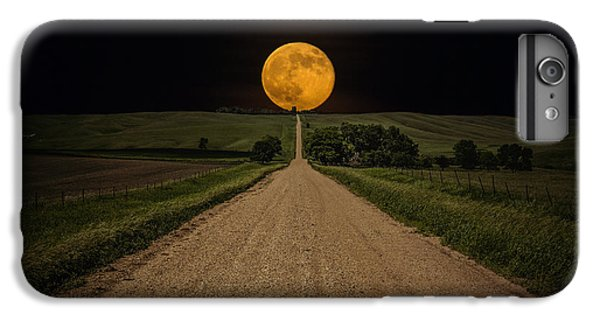 Moon iPhone 7 Plus Case - Road To Nowhere - Supermoon by Aaron J Groen