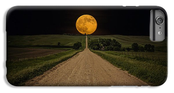 The Moon iPhone 7 Plus Case - Road To Nowhere - Supermoon by Aaron J Groen