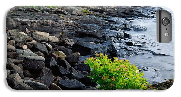 Lake Superior iPhone 7 Plus Case - Rocks And Trees Along Lake Superior by Panoramic Images
