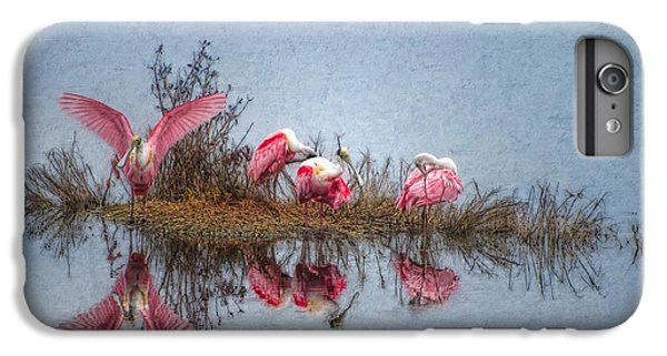 Spoonbill iPhone 7 Plus Case - Roseate Spoonbills At Rest by Lianne Schneider