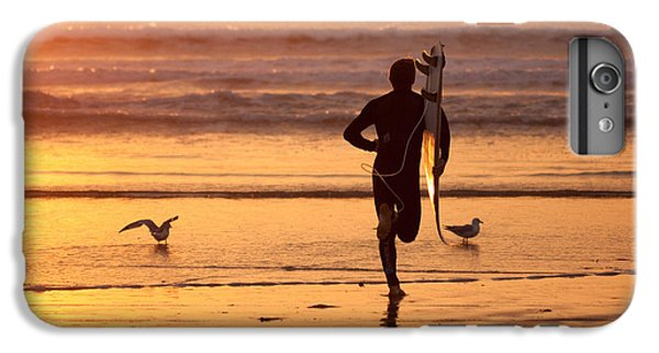 IPhone 7 Plus Case featuring the photograph Running To Surf by Nathan Rupert