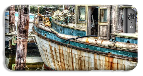 Shrimp Boats iPhone 7 Plus Case - Rusted Wood by Michael Thomas