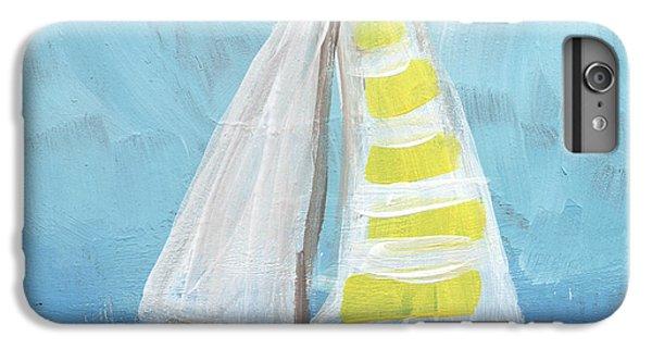 Sailboat iPhone 7 Plus Case - Sailing- Sailboat Painting by Linda Woods