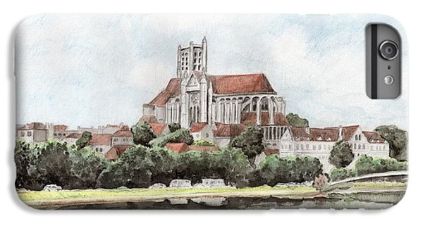 IPhone 7 Plus Case featuring the painting Saint-etienne A Auxerre by Marc Philippe Joly