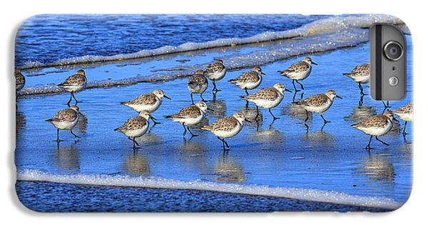 Sandpiper iPhone 7 Plus Case - Sandpiper Symmetry by Robert Bynum