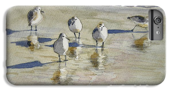 Sandpiper iPhone 7 Plus Case - Sandpipers 2 Watercolor 5-13-12 Julianne Felton by Julianne Felton