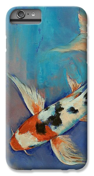 Sanke Butterfly Koi IPhone 7 Plus Case by Michael Creese