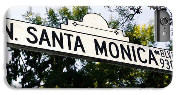 Santa Monica Blvd Street Sign In Beverly Hills IPhone 7 Plus Case by Paul Velgos