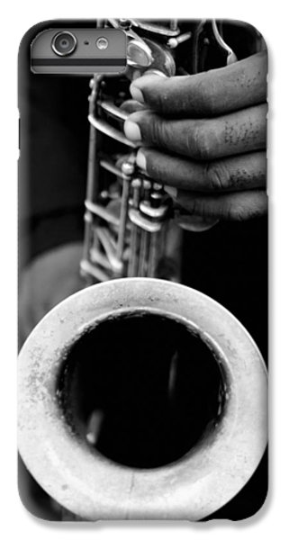 IPhone 7 Plus Case featuring the photograph Sax Player by Dave Beckerman