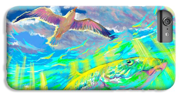 Shrimp Boats iPhone 7 Plus Case - Seagull Over The Flats  by Yusniel Santos