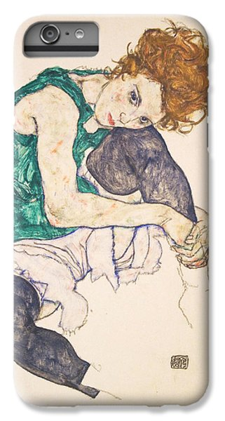 Seated Woman With Legs Drawn Up. Adele Herms IPhone 7 Plus Case
