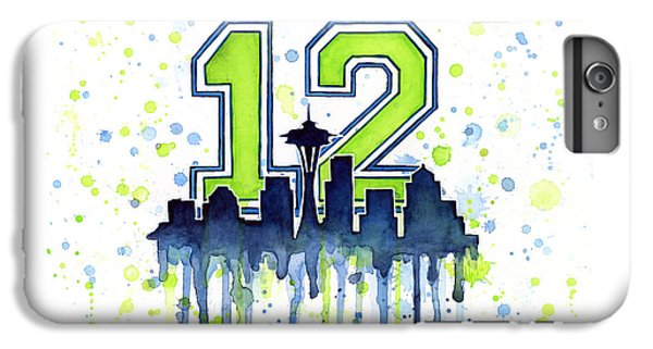 Space iPhone 7 Plus Case - Seattle Seahawks 12th Man Art by Olga Shvartsur