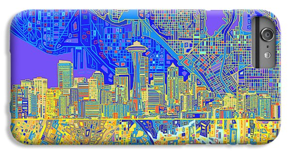 Seattle Skyline Abstract 6 IPhone 7 Plus Case