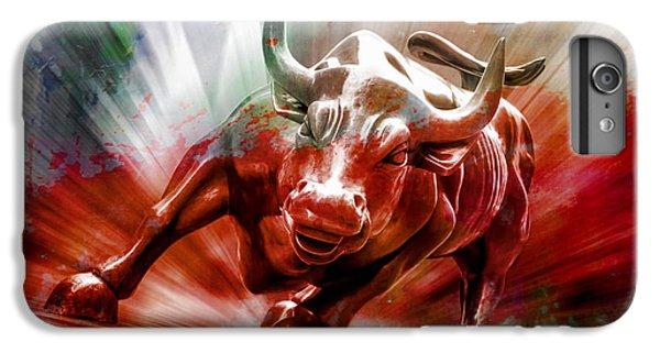 Bull iPhone 7 Plus Case - Seeing Red by Az Jackson