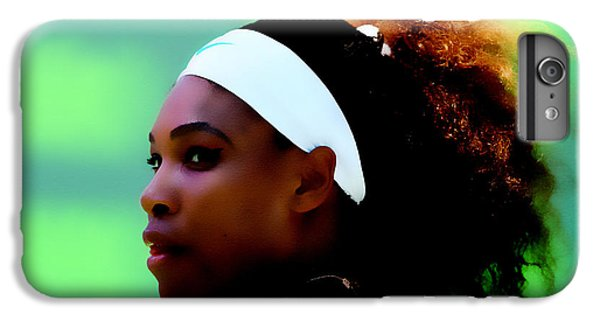 Serena Williams Match Point IPhone 7 Plus Case by Brian Reaves