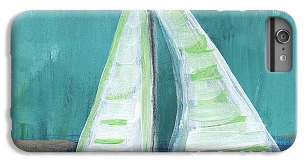 Transportation iPhone 7 Plus Case - Set Free- Sailboat Painting by Linda Woods