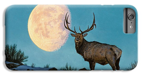 Bull iPhone 7 Plus Case - Setting Moon And Elk by Paul Krapf