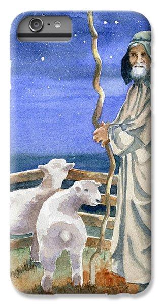 Sheep iPhone 7 Plus Case - Shepherds Watched Their Flocks By Night by Marsha Elliott