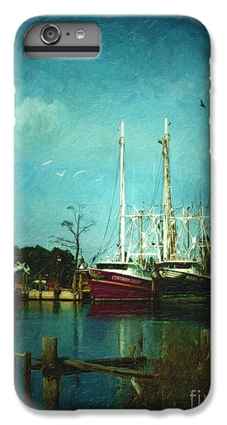 Shrimp Boats iPhone 7 Plus Case - Shrimp Boats Is A Comin by Lianne Schneider