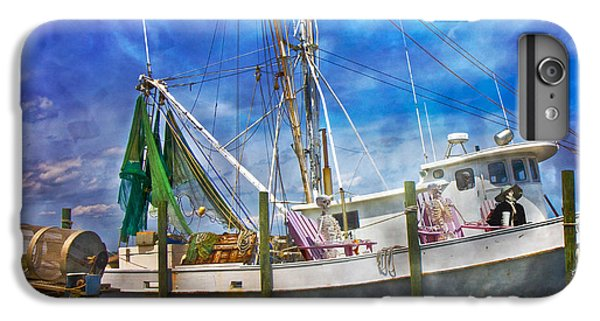 Shrimp Boats iPhone 7 Plus Case - Shrimpin' Boat Captain And Mates by Betsy Knapp