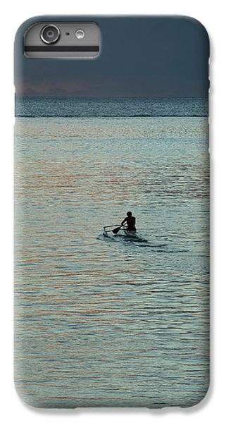 Jet Ski iPhone 7 Plus Case - Silhouette Of A Person Driving Jet Ski by Panoramic Images