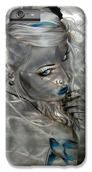 Swallow iPhone 7 Plus Case - Silver Flight by Christian Chapman Art